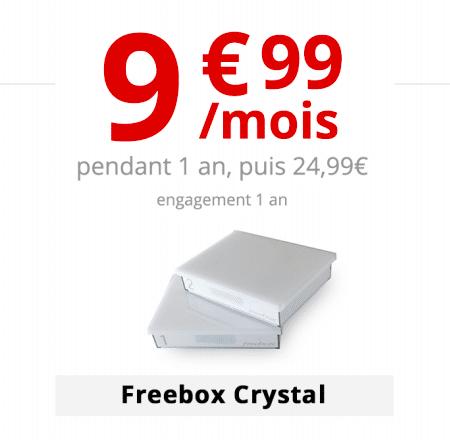 La box internet Freebox Crystal à 9,99€