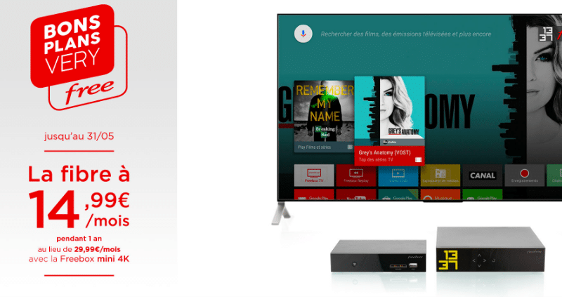 freebox mini 4k la box internet pas ch re de free avec la fibre optique. Black Bedroom Furniture Sets. Home Design Ideas