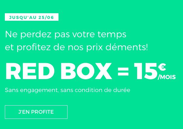 La box internet de RED by SFR est disponible pour 15€ par mois.