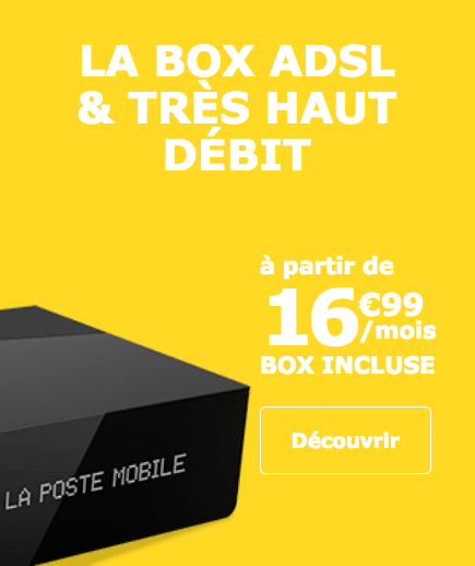 La box TV Plus de La Poste Mobile en promotion durant un an.