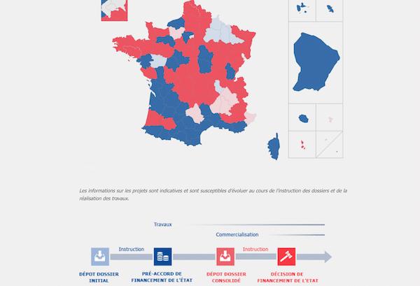 Suivi évolution fibre optique France sur site officiel.