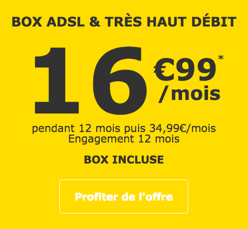 La Poste Mobile et sa promotion sur sa box internet.