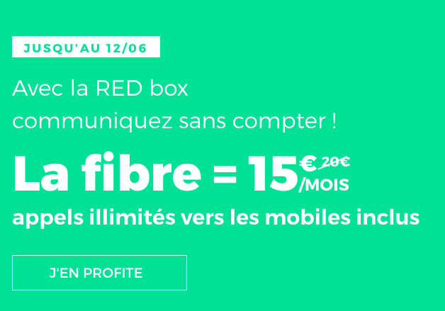 La RED box, box internet de RED by SFR, est en promotion.