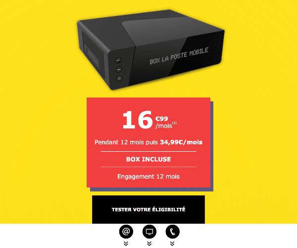 La Poste Mobile box internet fibre pas cher