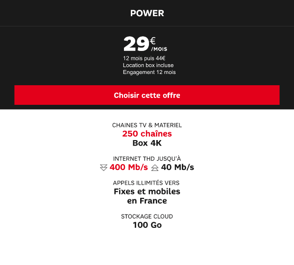 Box Power SFR Promotion