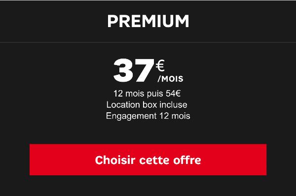 box premium SFR promotion
