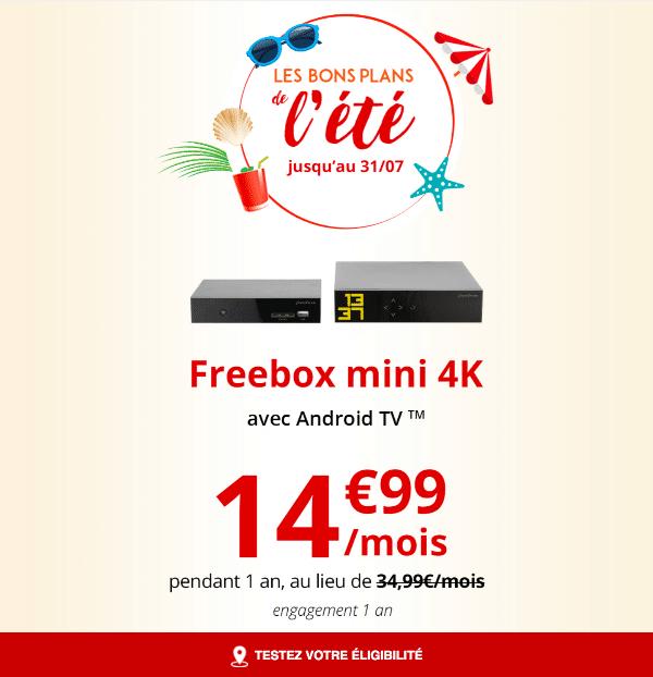 Freebox mini 4K pas cher promotion