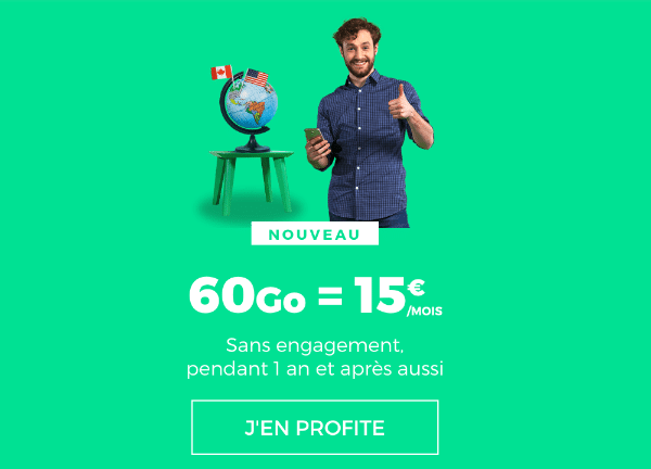 Promotion RED by SFR forfait mobile 60 Go