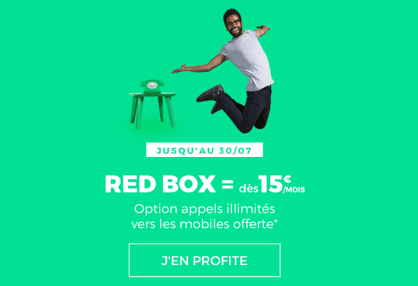 RED by SFR promotion RED Box 15 euros