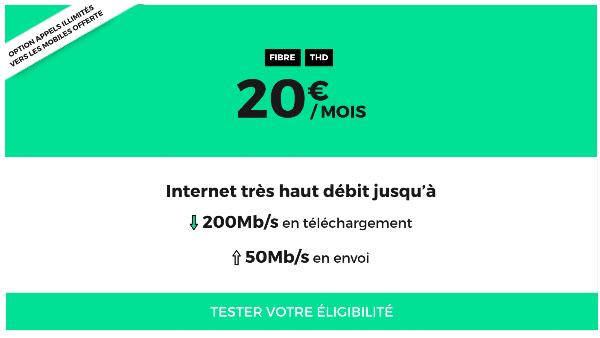 RED by SFR box internet fibre optique pas cher