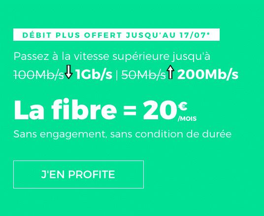 La box internet de RED by SFR avec option Débit Plus intégrée.