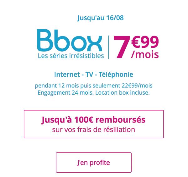 Bbox ADSL promotion Bouygues Telecom.