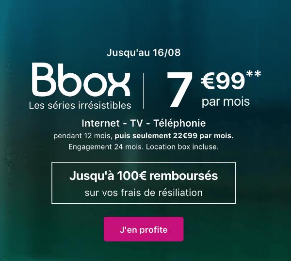 Bbox ADSL Bouygues Telecom promo