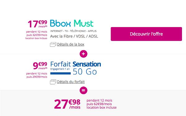 Bouygues Telecom forfait mobile et fixe