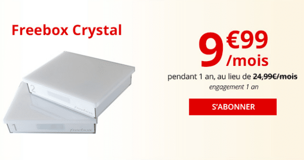 La box internet en ADSL de Free, la Freebox Crystal.