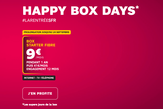 sfr prolonge les happy box days box internet adsl 5 fibre optique 9. Black Bedroom Furniture Sets. Home Design Ideas