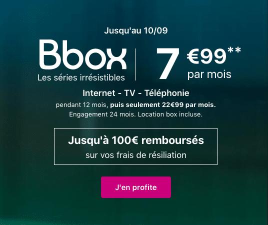 La BBox Série Irrésistible, un bon plan pour une box internet.