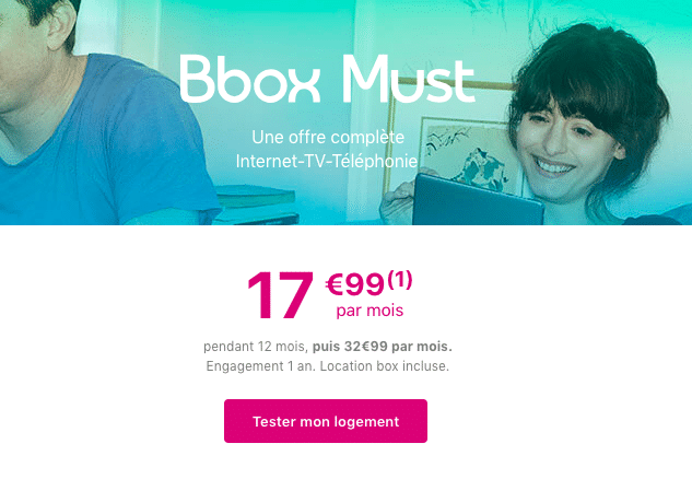 La box internet fibre de Bouygues Telecom