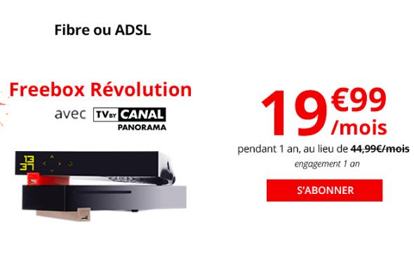 La box internet Freebox Révolution de Free.