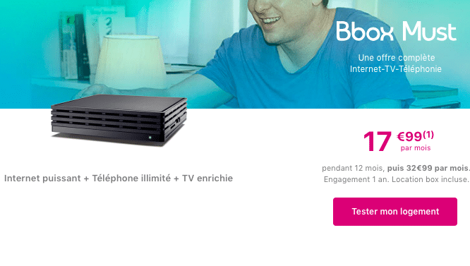 bouygues telecom pr sente la bbox must une box internet fibre optique 17 99. Black Bedroom Furniture Sets. Home Design Ideas