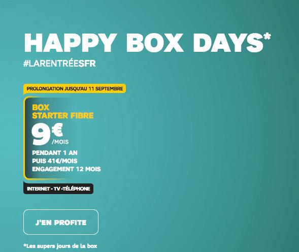 Un abonnement box internet pas cher chez SFR avec la fibre optique.