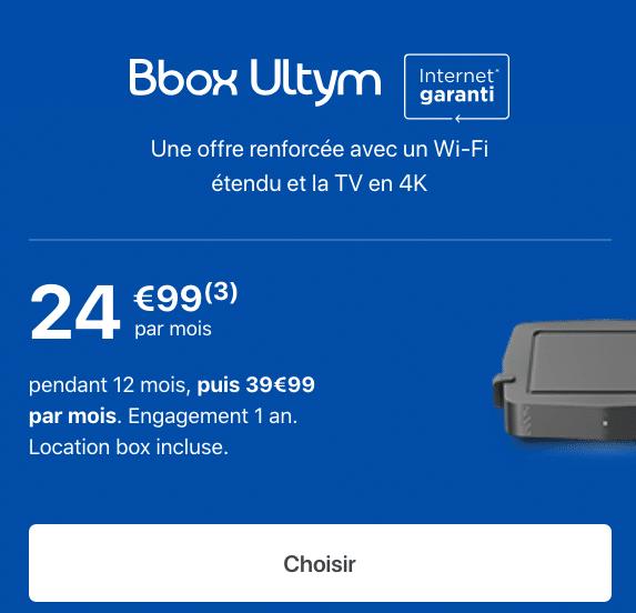 La Bbox Ultym de Bouygues Télécom.