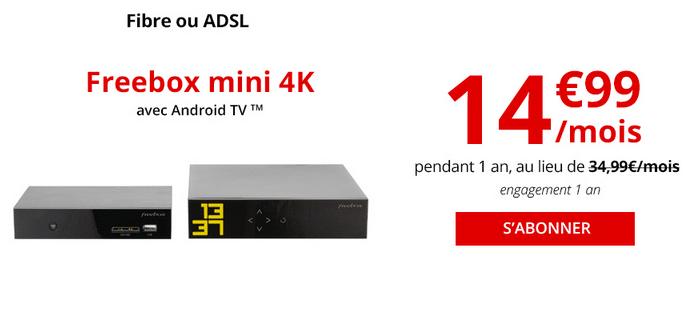 Freebox mini 4K promotion fibre optique