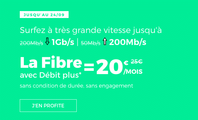 La box internet fibre en promotion chez RED by SFR.