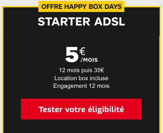 SFR propose aussi une box internet ADSL à moins de 10€/mois.
