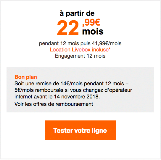 La Livebox Fibre d'Orange.