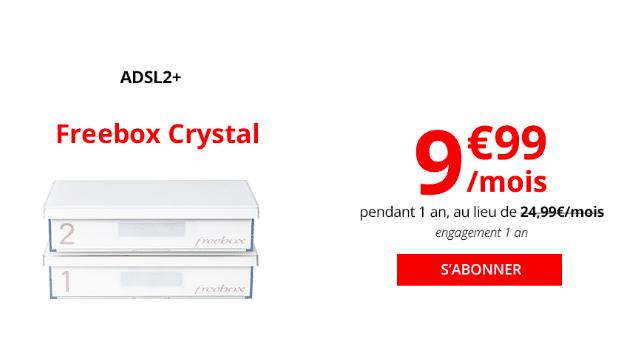 La Freebox Crystal dès 9,99 euros.