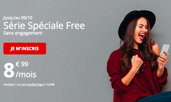 Le forfait à 8,99€ de Free Mobile.