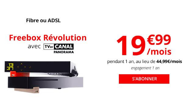 La Freebox Révolution à 19,99€.