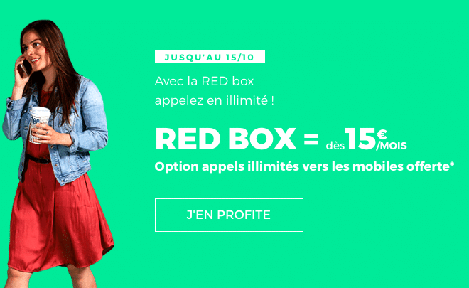 La box internet de RED by SFR dès 15€