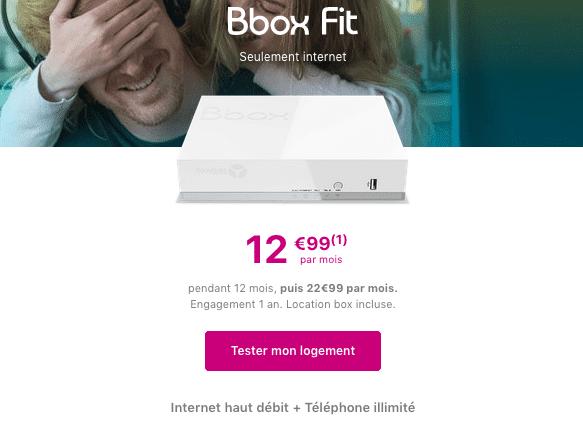 Box internet ADSL bouygues telecom promotion