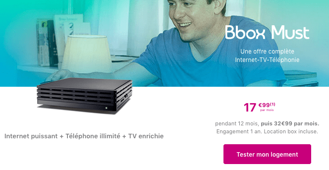 La Bbox Must de Bouygues Telecom est en promotion.