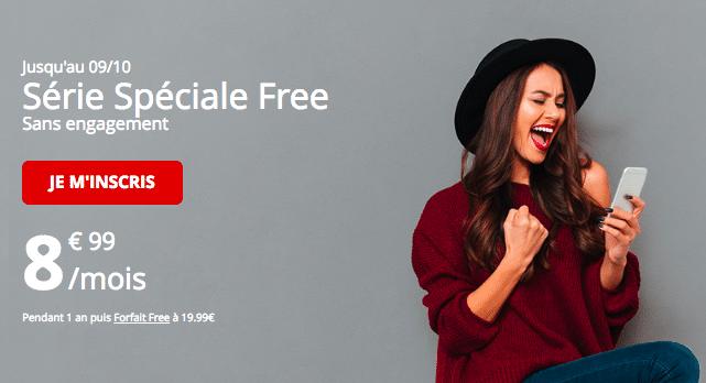 L'offre mobile de Free Mobile.