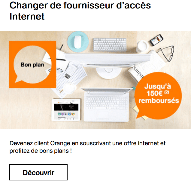 Livebox Up en promotion chez Orange box internet fibre optique