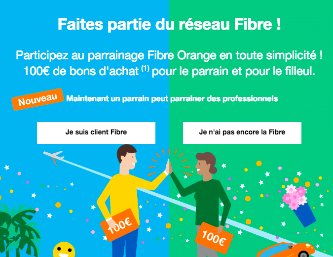 Offre de parainage Orange.