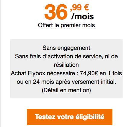 Orange propose la 4G Home, box internet 4G.