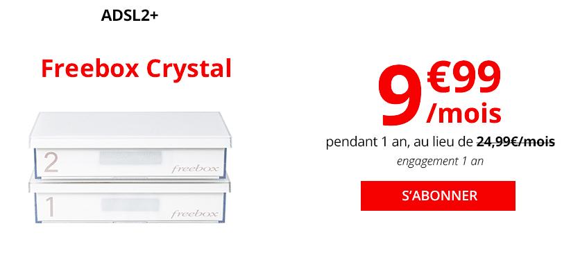 La Freebox Crystal Haut Débit.