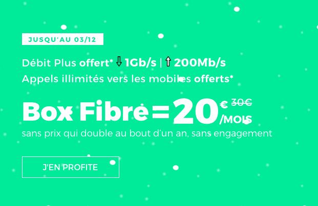 La box internet fibre optique de RED by SFR à 20€.