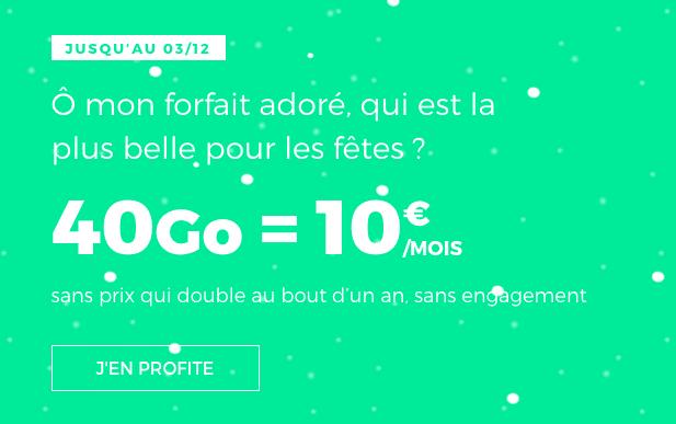 Le forfait 40 Go à 10€ de RED by SFR.