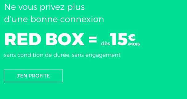 La RED Box de RED by SFR est à 15€/mois avec l'ADSL.