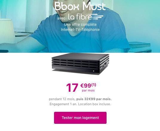 Box internet fibre optique promotion bouygues telecom.