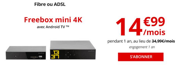 Box internet fibre optique Freebox Révolution promotion.