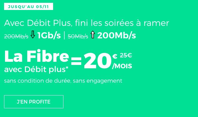RED by SFR forfait mobile avec la fibre optique.