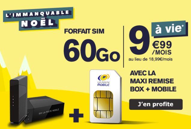 Forfait 4G de La Poste Mobile.