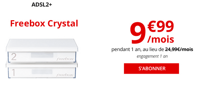 Free promotion box internet ADSL pas chère.