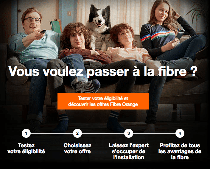 La fibre optique d'Orange.